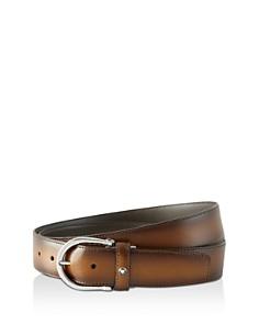 Montblanc Red Black Leather Belt - Bloomingdale's_0