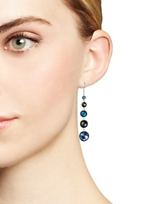 IPPOLITA - Sterling Silver Lollipop Lapis Triplet, London Blue Topaz & Hematite Earrings in Eclipse