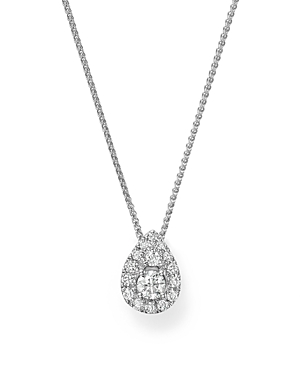 Bloomingdale\\\'s Diamond Cluster Teardrop Pendant Necklace in 14K White Gold, .25 ct. t.w. - 100% Exclusive-Jewelry & Accessories