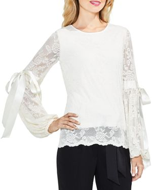 Vince Camuto Lace Tie Sleeve Top