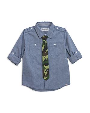 Sovereign Code Boys' Chambray Shirt & Camo Tie Set - Big Kid