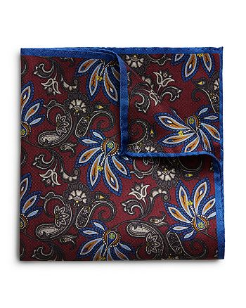 Eton - Floral Bordered Pocket Square