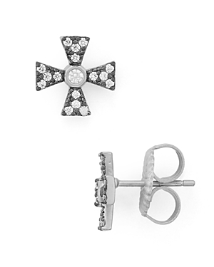 Freida Rothman Thin Cross Earrings