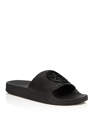 Tory Burch Women's Lina Leather Pool Slide Sandals