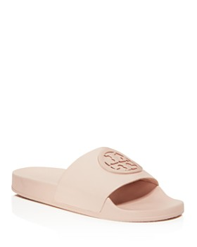 9028f0ca0 Tory Burch - Women s Lina Leather Pool Slide Sandals ...