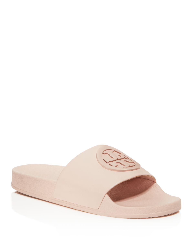 Tory Burch Women's Lina Leather Pool Slide Sandals