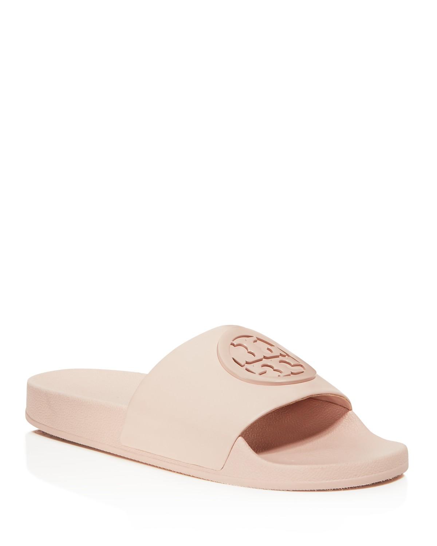Tory Burch Women's Lina Leather Pool Slide Sandals RuprTNOf