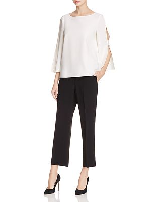Lafayette 148 New York Candace Slit Bell Sleeve Blouse Bloomingdale S