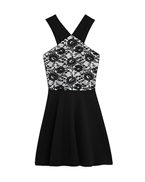 Aqua Girls LaceBodice Dress Big Kid  100 Exclusive