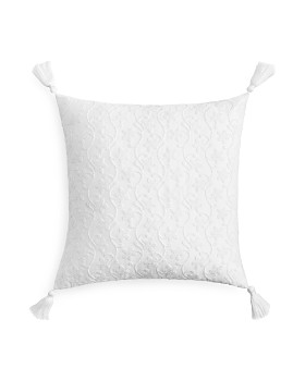 """Sky - French Knot Floral Decorative Pillow, 18"""" x 18"""" - 100% Exclusive"""