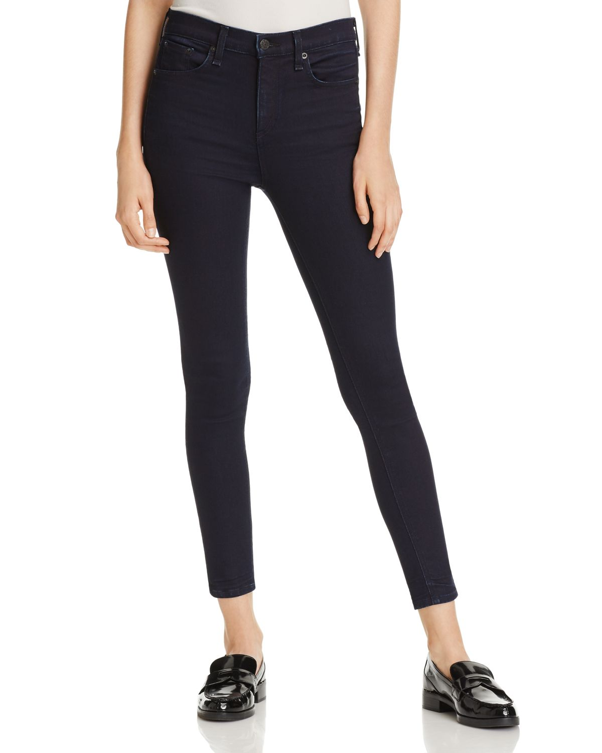 High Rise Ankle Skinny Jeans In Twilight by Rag & Bone/Jean