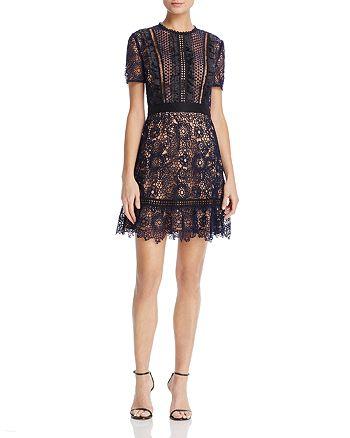 AQUA - Ruffled Lace Dress - 100% Exclusive