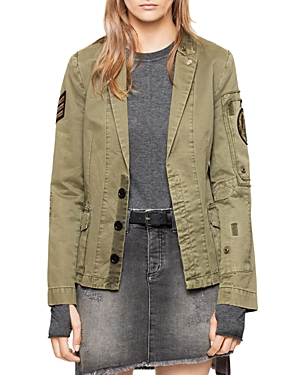 Zadig & Voltaire Virginia Grunge Military Jacket