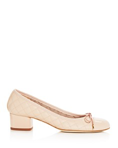 Paul Mayer - Women's Titou Quilted Leather Block-Heel Pumps