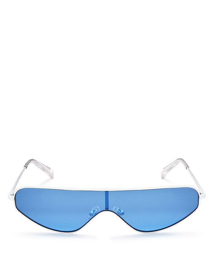 Kendall + Kylie - Women's Surfer Mirrored Shield Sunglasses, 63mm