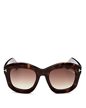 Tom Ford Julia Square Sunglasses, 50mm