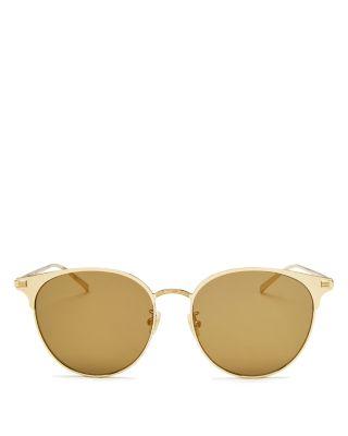 $Saint Laurent Women's Mirrored Round Sunglasses, 57mm - Bloomingdale's