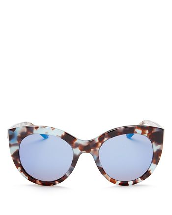 Tory Burch - Women's Mirrored Cat Eye Sunglasses, 50mm