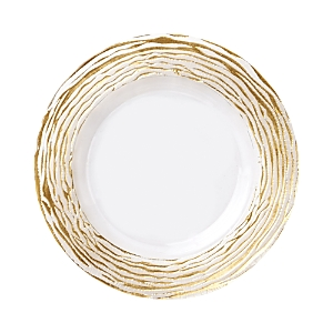 Vietri Rufolo Glass Gold Stripe Charger Plate