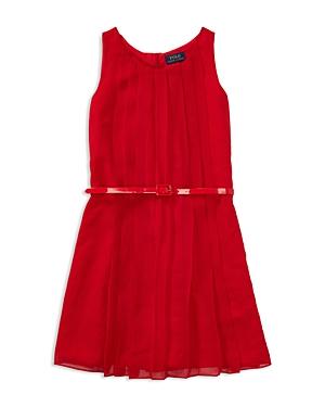 Ralph Lauren Childrenswear Girls' Pleated Georgette Dress - Little Kid