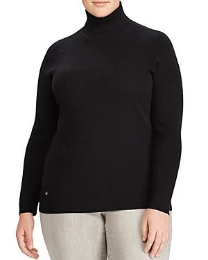 Lauren Ralph Lauren Plus Ribbed Turtleneck Sweater