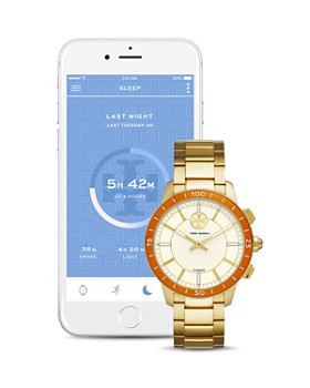 Tory Burch - ToryTrack Collins Gold-Tone Hybrid Smartwatch, 38mm