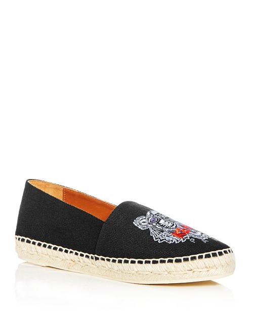 Kenzo - Women's Tiger Embroidered Espadrille Flats