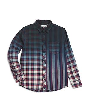 Sovereign Code Boys' Gradient Plaid Stripe Shirt - Big Kid