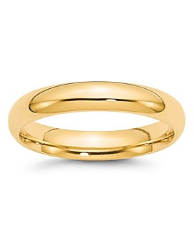 Bloomingdale's - Men's 4mm Comfort Fit Band Ring in 14K Yellow Gold - 100% Exclusive