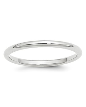 Bloomingdale's - Men's 2mm Comfort Fit Band Ring in 14K White Gold - 100% Exclusive