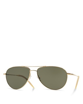 Oliver Peoples - Women's Benedict Polarized Aviator Sunglasses, 59mm