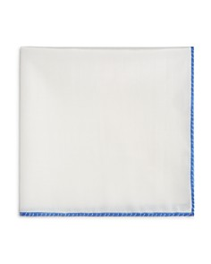 The Men's Store at Bloomingdale's White Bordered Pocket Square - 100% Exclusive_0
