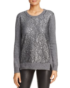 Foxcroft Pixie Lace Front Sweater