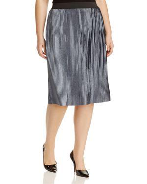 Junarose Odelia Metallic Plisse Skirt
