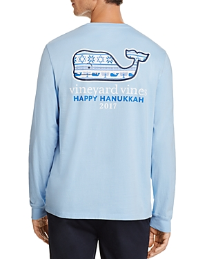 Vineyard Vines Hanukkah Fair Isle Crewneck Long Sleeve Tee