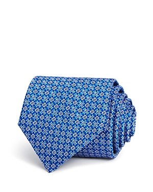 Canali Floral Geometric Classic Tie - 100% Exclusive