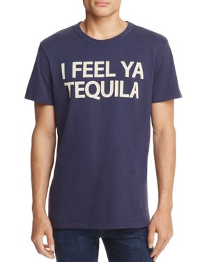CHASER Tequila Feels Crewneck Short Sleeve Tee in Blue