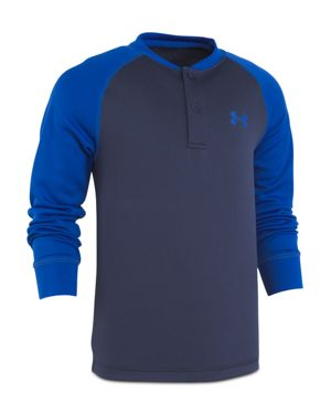 Under Armour Boys' Color-Block Henley Top - Little Kid