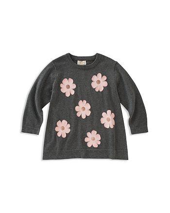 kate spade new york - Girls' Floral Swing Sweater - Big Kid