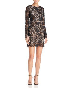 Dress the Population Jessica Long-Sleeve Lace Dress