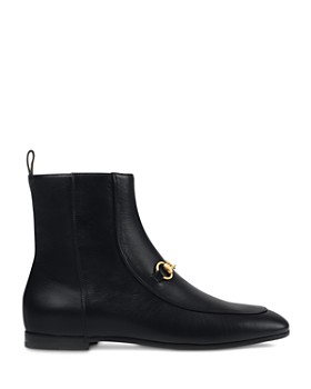 Gucci - Women's New Jordaan Leather Chelsea Booties