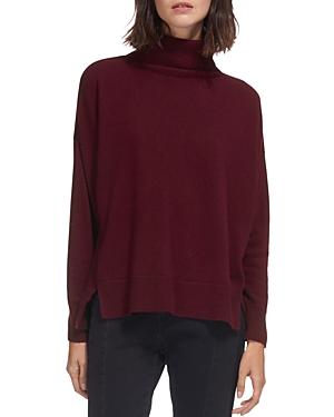 Whistles Horizontal Ribbed-Knit Cashmere Turtleneck Sweater
