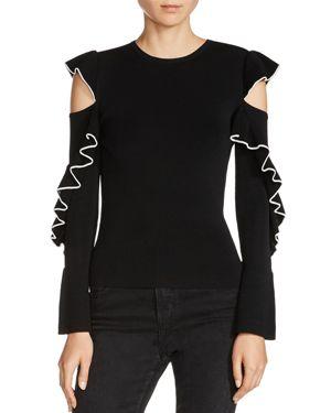 Maje Madeline Cold-Shoulder Sweater