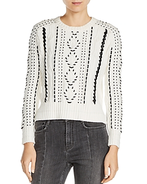Maje Mila Cable Knit Sweater