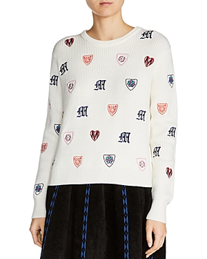 Maje Martela Embroidered Sweater