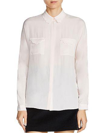 Maje - Coline Scalloped Shirt