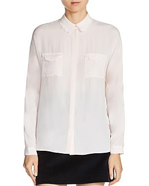 Maje Coline Scalloped Shirt