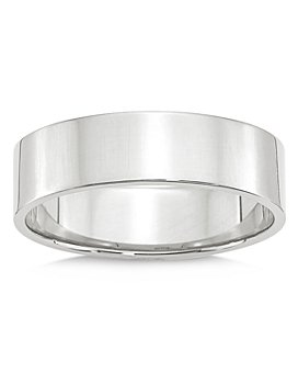 Bloomingdale's - Men's 6mm Lightweight Flat Band in 14K White Gold - 100% Exclusive