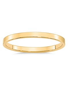 Bloomingdale's - Men's 2mm Lightweight Flat Band in 14K Yellow Gold - 100% Exclusive