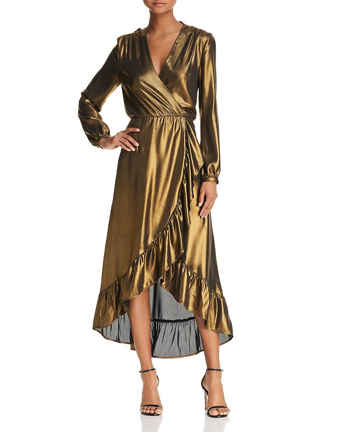 WAYF - Calista Cowl-Back Wrap Dress - 100% Exclusive